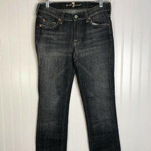 Black Seven For All Mankind Jeans Straight Leg 27